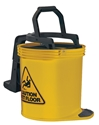 Picture of Mop Bucket Duraclean Yellow 16lt on Castors-BUCK369150- (EA)