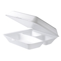Picture of Foam 3 Compartment Dinner Clam 215x215x70-CLAM159100- (CTN-200)