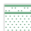 """Picture of Table Cloth/Cover Roll Paper """"Green Tile Pattern"""" 30mt x 1.1mt-DOYL191070- (ROLL)"""