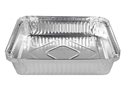 Picture of #360 / #7223 Square Foil Container  - 194mm x 194mm Base Dimensions x 35mm High-FCON135550- (CTN-200)