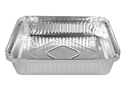 Picture of #360 / #7223 Square Foil Container  - 194mm x 194mm Base Dimensions x 35mm High-FCON135550- (CTN-100)