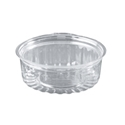 Picture of Food/Show Bowl Clear Plastic 8oz Flat Lid 240ml apprx-HCON148550- (SLV-25)