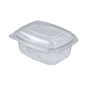 Picture of Clear Plastic small rectangular hinged lid Clam container - 120 x 92 x 65mm- 400ml-HCON150500- (CTN-250)