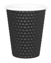 Picture of Black 8oz Dimple Coffee Cups-HCUP107950- (SLV-25)