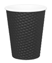Picture of Black 12oz Dimple Coffee Cups-HCUP108100- (CTN-500)