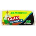 Picture of Glad Wave Top Kitchen Tidy Bin Bag Medium 27lt -Scented-KITB024295- (ROLL-40)