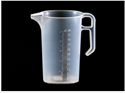Picture of Measuring Jug Clear Plastic with Markings - 500ml-POLY228541- (EA)