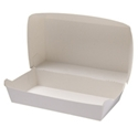 Picture of Cardboard Snack Pk 2 White - 115mm x 205mm Base Dimensions x 80mm High-SNAK153280- (SLV-125)