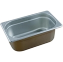 Picture of Stainless Steel Bain Marie Steam Insert Pan 1/4 size 150mm deep - 265mm x 162mm-SSTL225186- (EA)