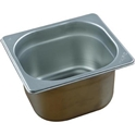 Picture of Stainless Steel Bain Marie Steam Insert Pan 1/6 size 100mm deep - 176mm x 162mm-SSTL225190- (EA)