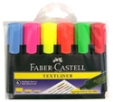 Picture of Highlighter Faber Castell Textliner Clear Barrel - Mixed Colour Pack-STAT342590- (WALLET-6)