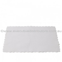 Picture of Premium Placemats Small White Scalloped Edge Paper 355 x 240mm-DOYL189211- (CTN-2000)