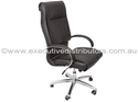 Picture of Executive Chair -Bigman Executive -Generous Padding- Chrome Base & Arms - Black-FURN358716- (EA)