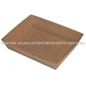 "Picture of Cardboard Food tray no.3 Kraft ""Betaboard"" - 180mm x 130mm Base Dimensions x 40mm High-TRAY164975- (CTN-240)"