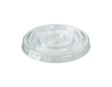 Picture of Clear Flat Lid with Straw / Spoon Slot to Suit Castaway PET 7/9/10 OZ Cups-PLAC119093- (CTN-1000)