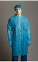 Picture of Gown Polypropylene Laboratory Blue 3/4 Length Velcro down the front long sleeve-APPR495216- (BOX-50)