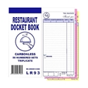 "Picture of ""Restaurant Docket Books Triplicate with seperate """"Drinks"""" section 50's""-DKTB338401- (CTN-100)"