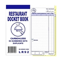 "Picture of Restaurant Docket Books Duplicate 93mm x 196mm with seperate ""Drinks"" section 50's-DKTB338470- (CTN-100)"