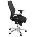 Picture of Executive Chair -Medium Back, Adjust Arms, Aluminium Base-Infinite Tilt Lock, Fabric Seat, Mesh Back-FURN358698- (EA)