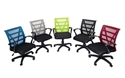 Picture of Office Chair - Mesh Back with Arms - Wave- Red / Black-FURN358711- (EA)