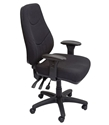 Picture of Executive Chair - Ergonomic, Fabric, Heavy Duty - Black-FURN358728- (EA)