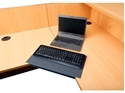 Picture of Corner Lozenge to Convert Desk and Return to a corner - Suits 33mm Top - Grey Only-FURN359314- (EA)