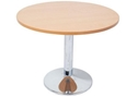 Picture of Chrome Base Round Table - 730mm High x 600mm Round Top-FURN360278- (EA)