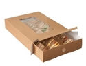 Picture of ***IL***Large Platter Box Clear Window with Tray Insert - 450 x 311 x 82mm - Kraft-TRAY162670- (BOX-25)