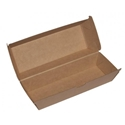 Picture of Cardboard Clam/ Tray Hot Dog Kraft Board - 208mm x 70mm Base Dimensions x 75mm High-TRAY165055- (CTN-200)