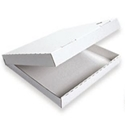 Picture of Pizza Box 11in Plain White Cardboard-PIZZ155360- (SLV-100)