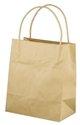 Picture of Carry Bag Brown Paper Twist Handle 200 x 170 + 100 Toddler 110gsm-CARB063430- (CTN-500)