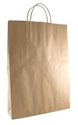 Picture of Carry Bag Brown Paper Twist Handle 480 x 340 + 90 Med/ Large 110gsm -CARB063590- (SLV-50)