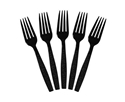 Picture of Premium Plastic Cutlery Elegance Black Dining Fork-DCUT175380- (SLV-50)