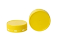 Picture of Lids to suit 375ml Square Plastic Jar - Yellow Tamper Evident-GLAS250401- (CTN-312)