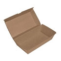 Picture of Large Cardboard Snackbox Kraft Board - 205mm x 107mm Base Dimensions x 77mm High-SNAK152705- (CTN-200)