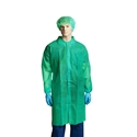 Picture of Gown Polypropylene Labcoat No Pocket GREEN-APPR495223- (CTN-100)
