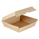 Picture of Enviro Dinner Box Supa Flute Brown Kraft - 195 x 185 x 80mm-BIOD080208- (CTN-150)