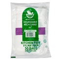 Picture of Enviro Degradable Kitchen Tidy Bin Liner Roll 27L - Clear-KITB024118- (CTN-500)
