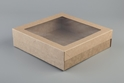 Picture of Clear Lid To Suit Small  Kraft Catering Box (Base Sold Seperately)-TRAY165570- (CTN-100)