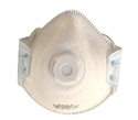 Picture of P2 Standard Dome Disposable Respirators with Valve Moulded-RESP820410- (BOX-10)