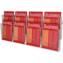 Picture of A4 Brochure Holder 8 Compartment (2 Tier) Wall Mounted-STAT349796- (EA)