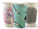 Picture of 16oz Biodegradable Double Wall Coffee Cup - Biopak Art Series (Mixed Print Selection)-BIOD076255- (CTN-600)
