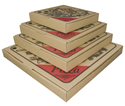 Picture of Pizza Box 15in Cardboard Printed-PIZZ155600- (SLV-100)