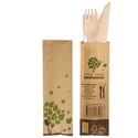 Picture of FSC 100% Wooden Knife, Fork & Napkin Combo set-BIOD077440- (CTN-400)