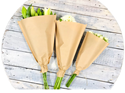 Picture of Brown/Kraft Paper Flower Sleeves 40x25x10-WRAP074290- (SLV-1000)