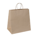 Picture of Carry Bag Brown Paper Twist Handle 370(H) x 355(W) + 220(G)  - Takeaway Jumbo-CARB063835- (CTN-150)