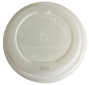 Picture of  Biodegradable Coffee Cup Lid Suits 8/12/16oz Envirochoice Single & Double Wall & Gallery Series Cup-BIOD076290- (SLV-50)