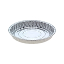 Picture of #4222 Large Fluted Pie Foil Container  - 185mm Round Base x 26mm High-FCON135431- (CTN-500)