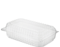 Picture of Clear Plastic Salad Clam Pack Large 180x105x60mm (Internal) - Castaway CA-CVP049-HCON149501- (SLV-100)
